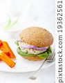 Turkey burger with spinach Sweet potato, batat 19362561