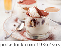 Tiramisu dessert in a glass. Traditional Italian. 19362565
