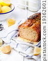 Lavender, lemon cake and lavender flowers 19362601
