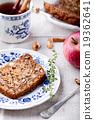 Apple, walnut cake, loaf, bread with fresh apples 19362641