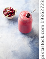 Cherry smoothie, coconut milk, yogurt and honey 19362723
