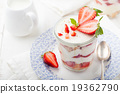 Strawberry tiramisu, trifle, custard dessert 19362790