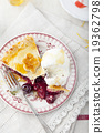 Cherry pie homemade on a white background 19362798
