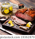 Beef pastrami sliced, roast beef with marinated 19362870