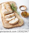 Fresh ciabatta with olive oil Italian bread 19362947
