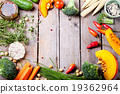 Frame of vegetables, herbs. Harvest, culinary 19362964