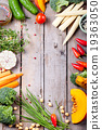 Frame of vegetables, herbs. Harvest, culinary 19363050