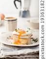 Croque madame, egg, ham, cheese sandwich 19363182