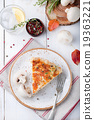 Mushroom, champignon pie, quiche slice 19363221
