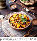 Lentil with carrot and pumpkin ragout 19363234