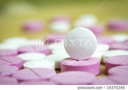 group of drugs closed up, macro 19370289