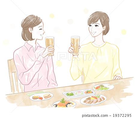 กิน,มื้ออาหาร,ผู้หญิง 19372295