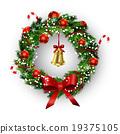 wreath, vector, bow 19375105