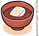 矢量 甜食 年糕甜赤豆湯 19376795