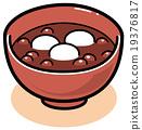 矢量 軟豆醬 日式甜點 19376817