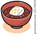 矢量 軟豆醬 年糕 19376839