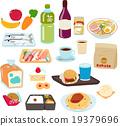 식품, 온갖 세트 19379696
