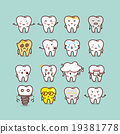 cute cartoon tooth set 19381778
