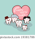 Happy cartoon tooth family 19381786