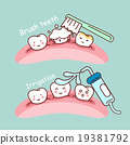 cute cartoon tooth brush concept 19381792