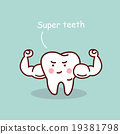 Super health cartoon tooth 19381798