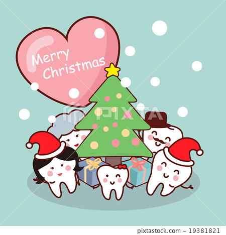 Merry christmas to tooth family - Stock Illustration [19381821] - PIXTA