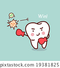 health cartoon tooth boxing 19381825