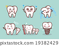 cute cartoon tooth expression 19382429