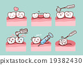 cartoon tooth with dental equipment 19382430