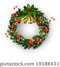 wreath, vector, bow 19386431