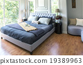 Furnished master bedroom in new luxury home. 19389963