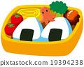 矢量 飯糰 午餐盒 19394238