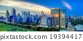 Panorama of Bangkok Cityscape in twilight 19394417