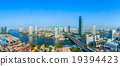 Landscape of River in Bangkok city with blue sky 19394423