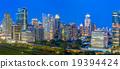 Panorama of Bangkok Cityscape in twilight 19394424