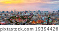 Panorama of Bangkok skyline at sunset, Thailand. 19394426