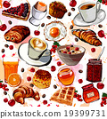 Set of breakfast food 19399731