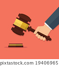 vector, gavel, hammer 19406965