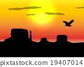 Western desert background 19407014