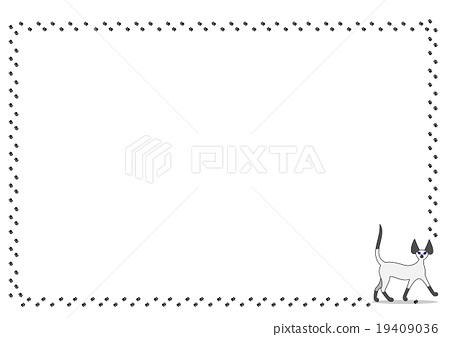 Cat footprint frame 19409036