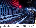 keihan railway tunnel,osaka,nakanoshima,japan 19409578