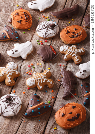background Gingerbread Halloween close-up 19410729