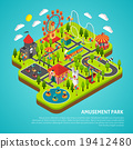 Amusement Park Attractions Fairground Isometric 19412480