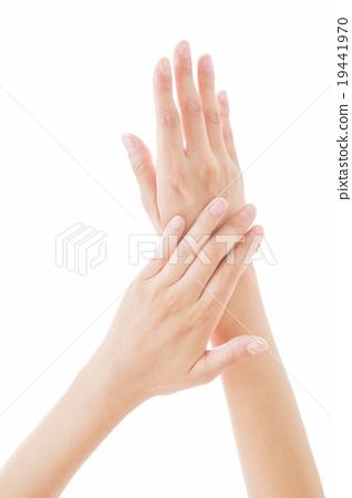 身體部位年輕女性的手 19441970