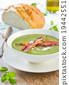 Pea and Mint soup with bacon 19442551