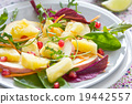 Pineapple with Pomegranate and Spinach salad 19442557