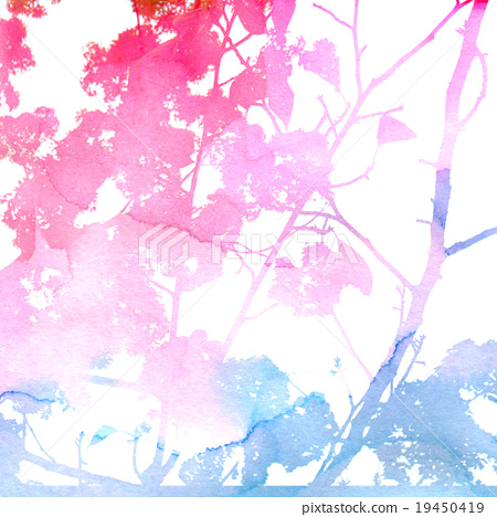 purple pink blue floral watercolor background stock