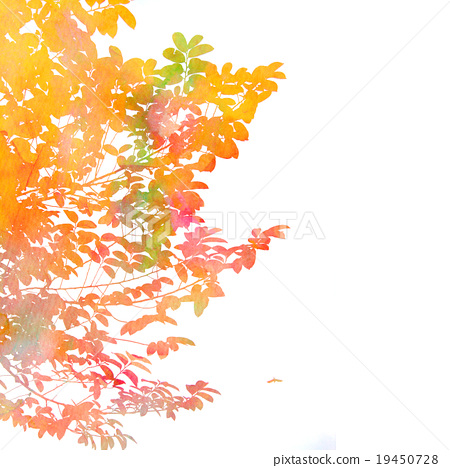 fall autumn leaves background image watercolor stock illustration