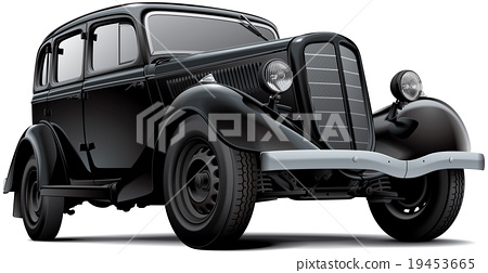 Old fashioned Soviet car 19453665
