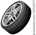 tyre, tire, vector 19453677